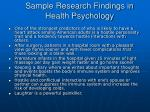 sample research findings in health psychology