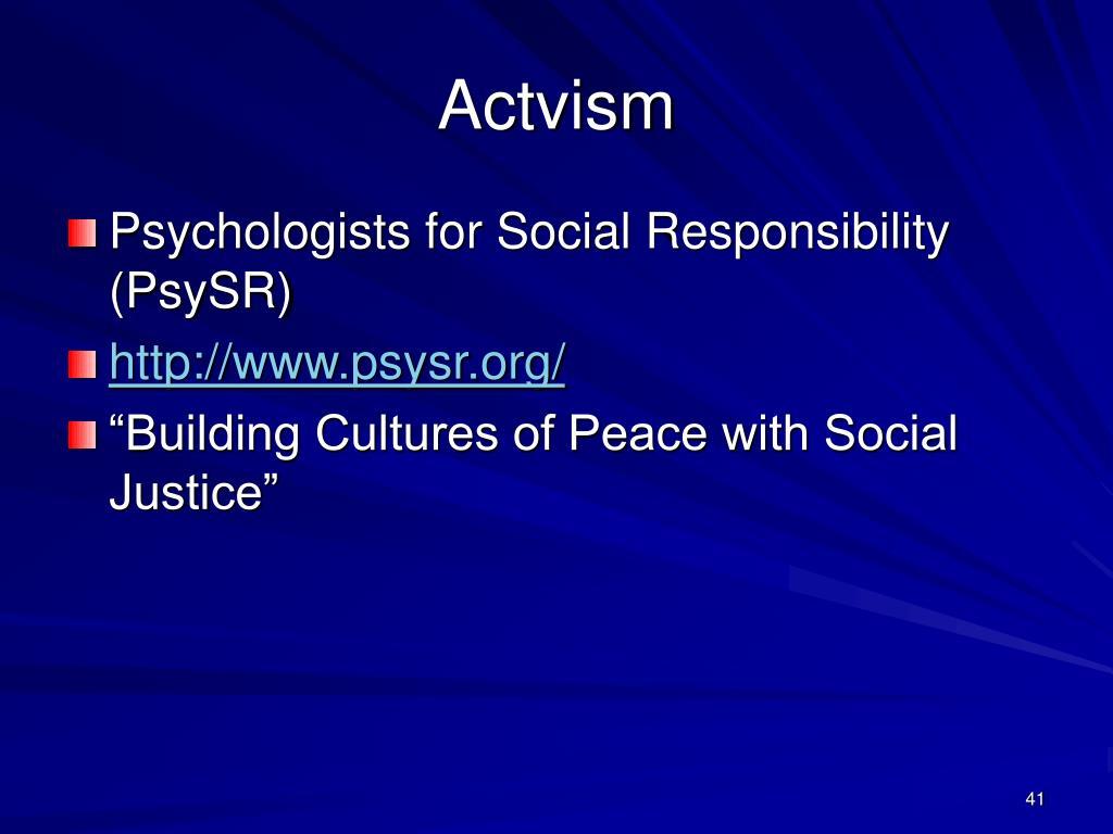 Actvism