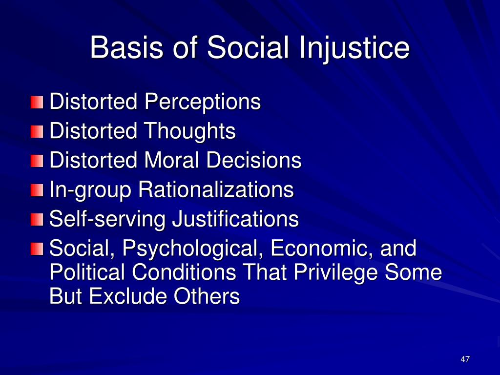Basis of Social Injustice
