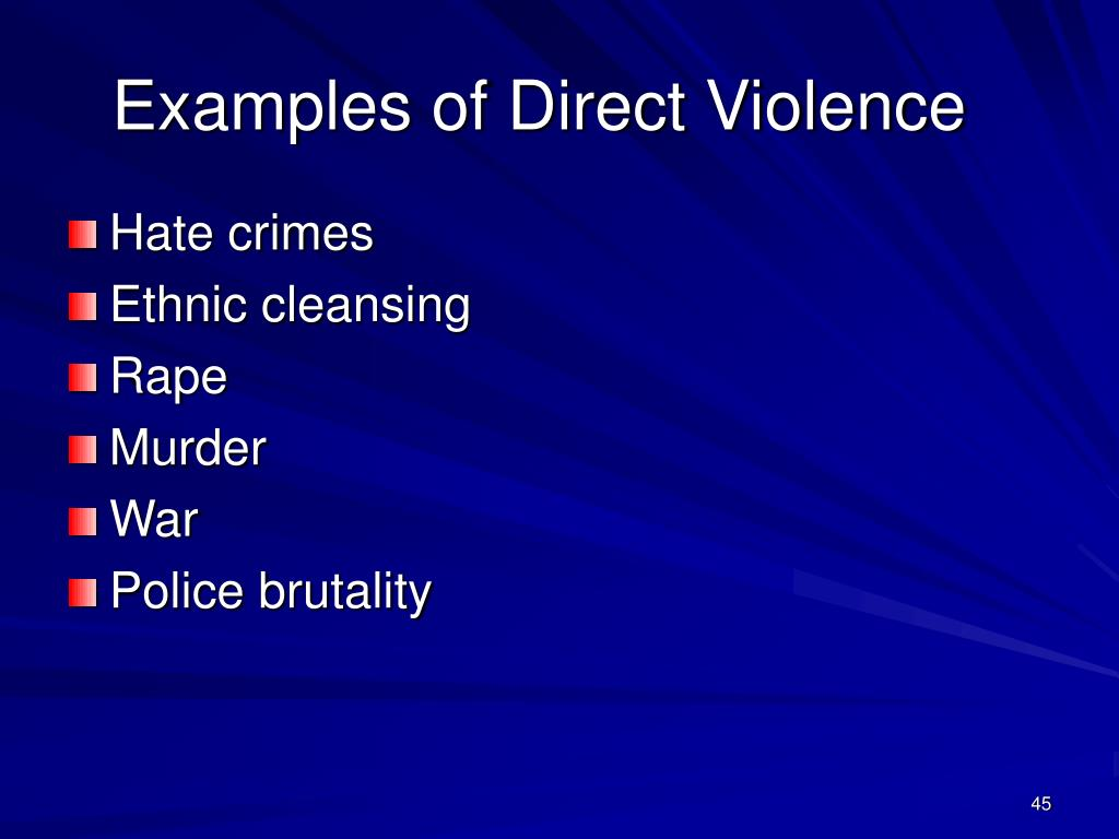 Examples of Direct Violence