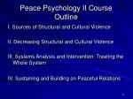 peace psychology ii course outline