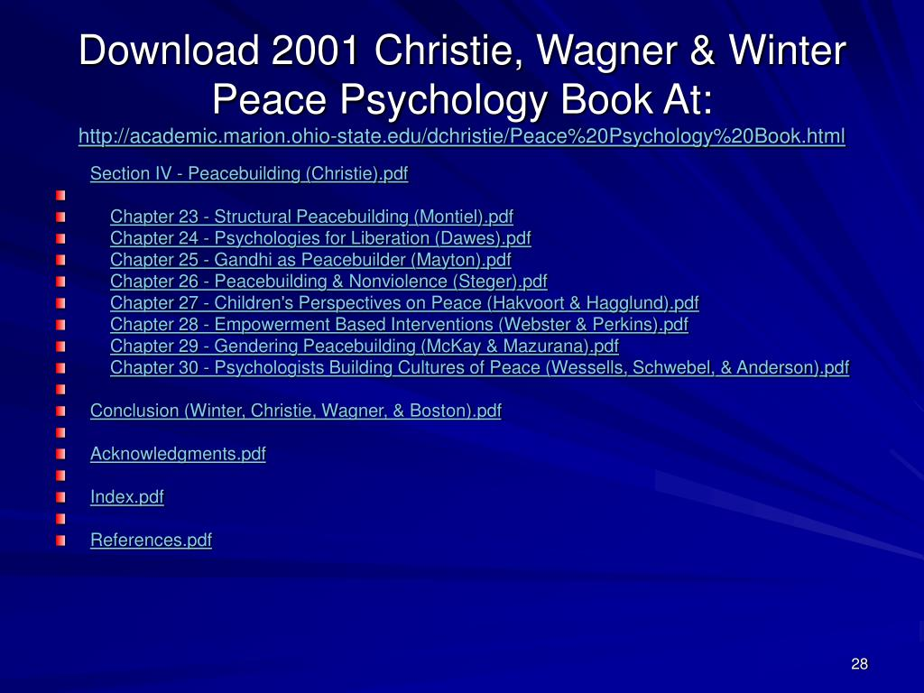 Download 2001 Christie, Wagner & Winter