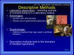descriptive methods14