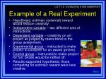 example of a real experiment