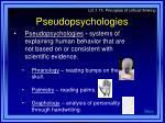 pseudopsychologies