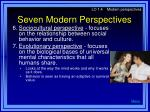 seven modern perspectives9