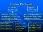 fields of psychology