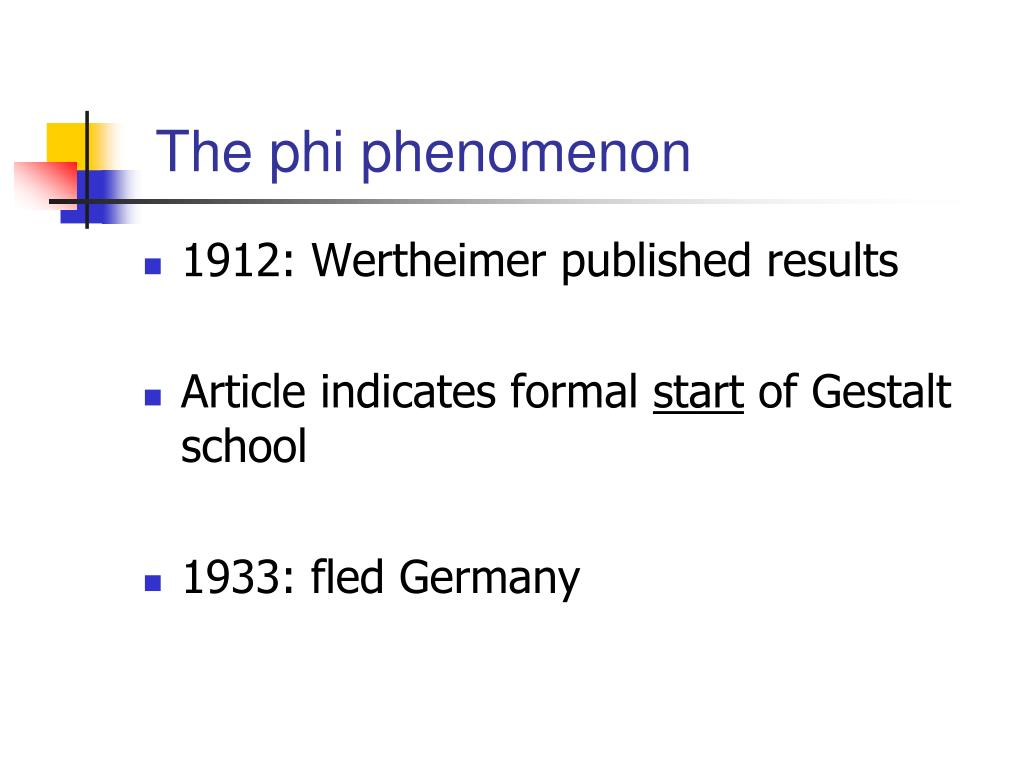 The phi phenomenon