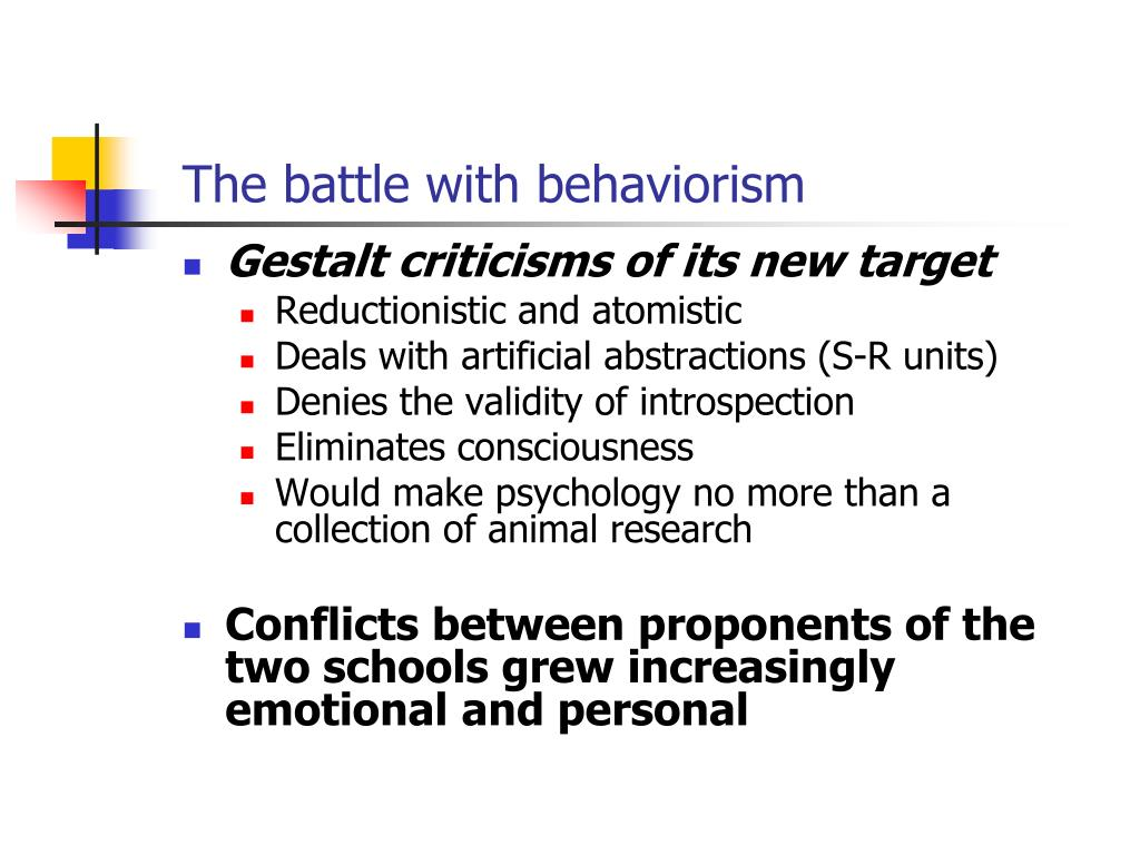 The battle with behaviorism