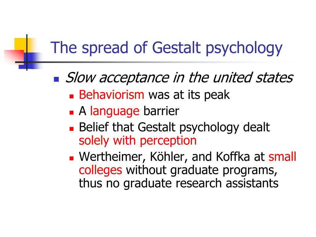 The spread of Gestalt psychology