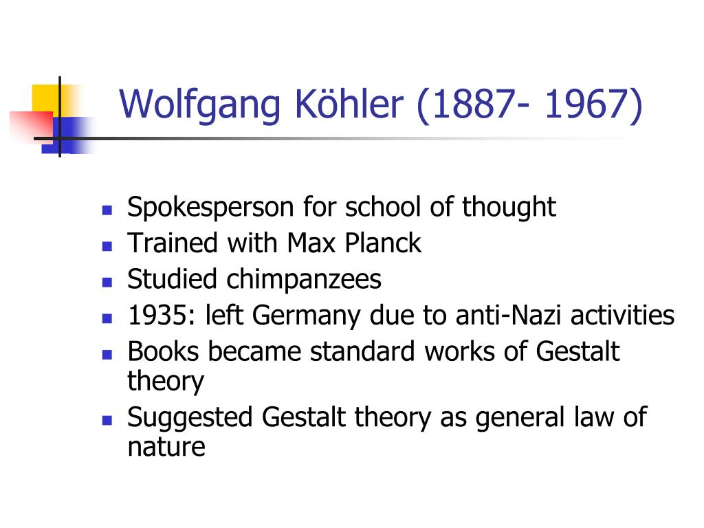 Wolfgang Köhler (1887- 1967)