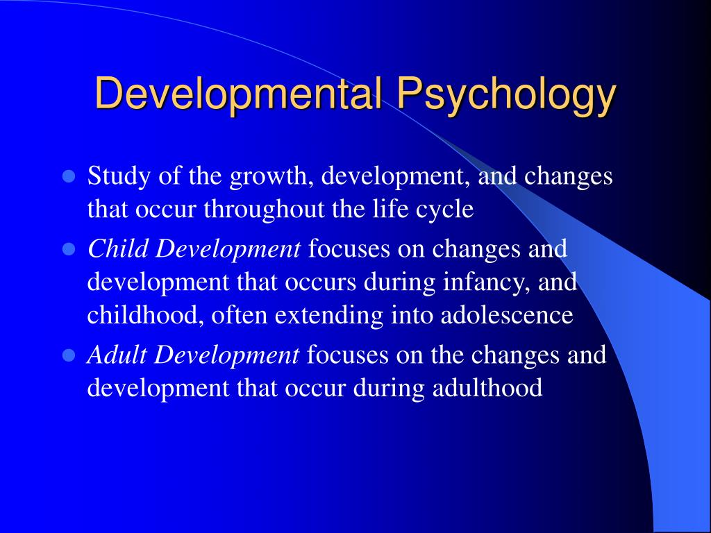 child development developmental psychology Watch developmental psychology video lessons and learn about child development, cognitive development, scaffolding, linguistics, moral development.