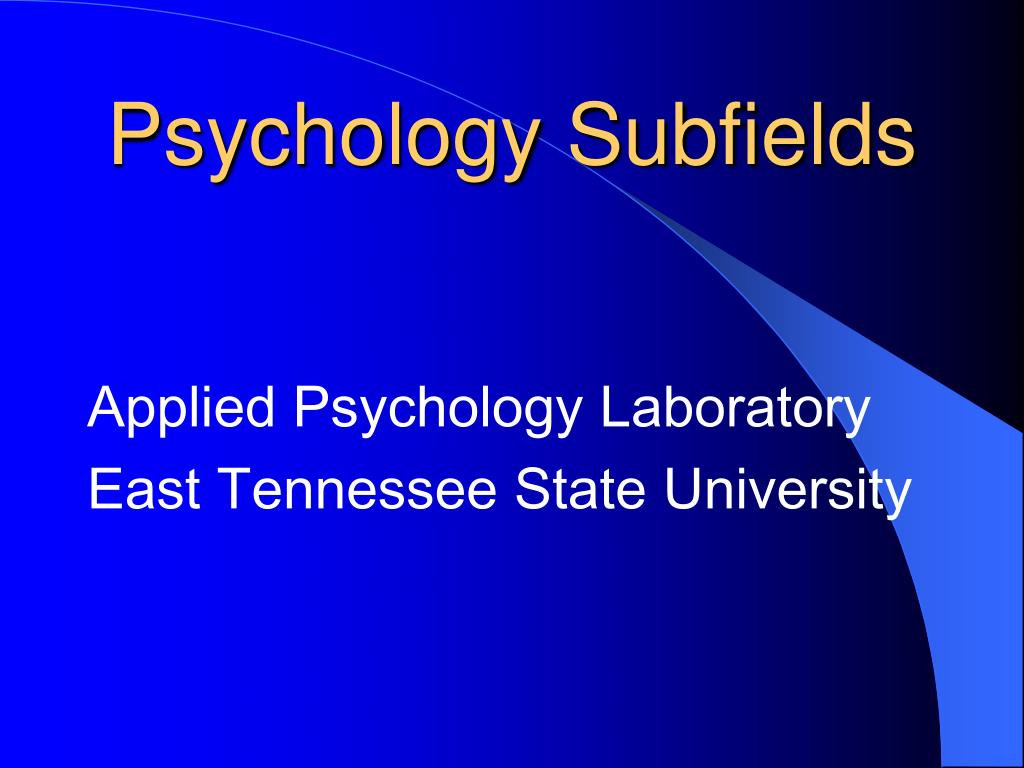 psychology subfields l.