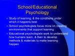 school educational psychology