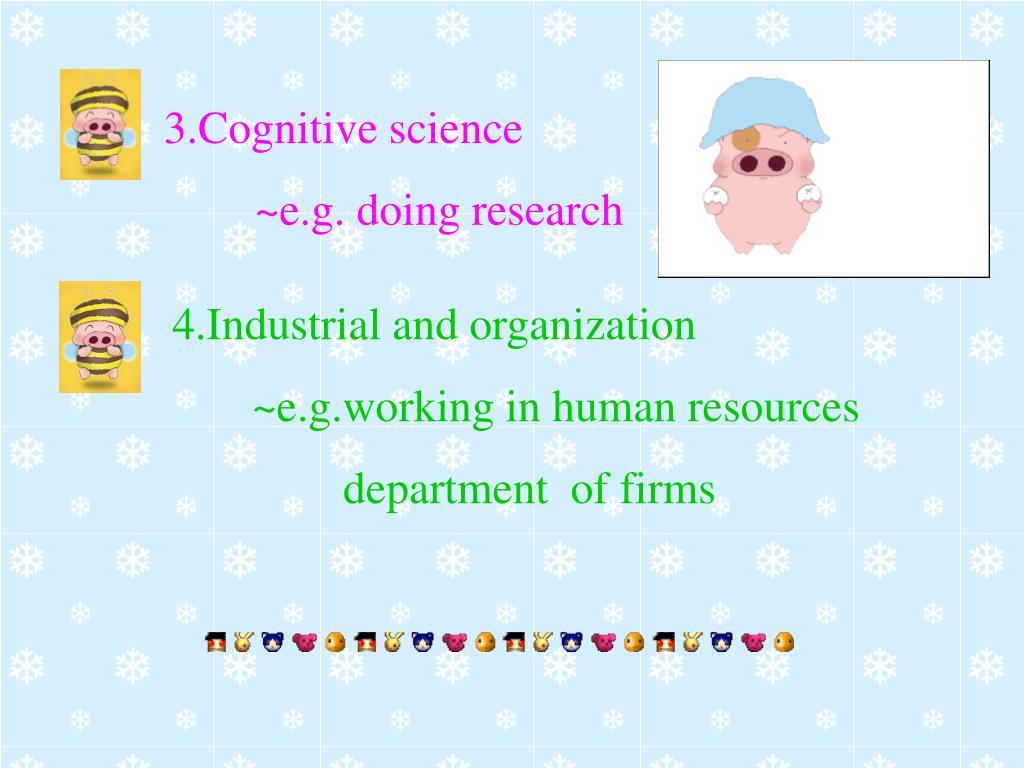 3.Cognitive science