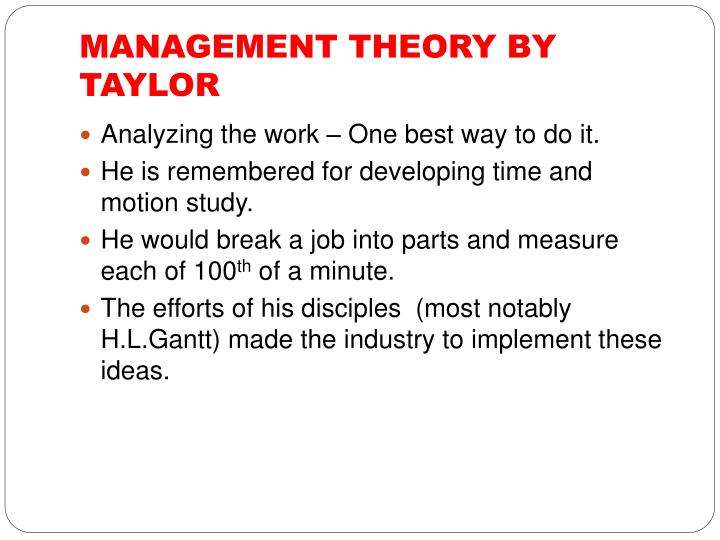 frederick taylor s most significant contribution management Frederick taylor decides to time workers at the midvale steel  the studies  concluded that human factors were often more important than physical conditions  in  his contributions in change theory, action research, and action.