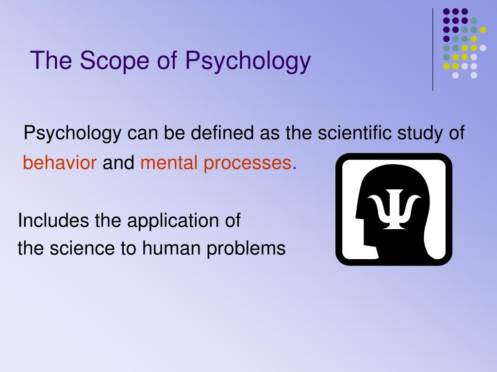 the scope of psychology l.