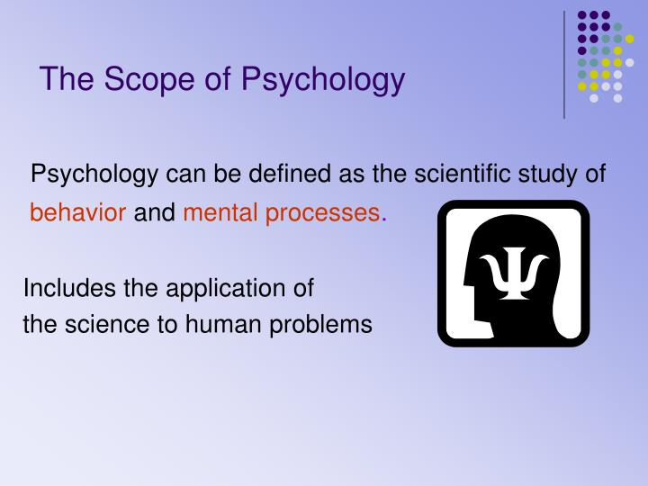 the scope of psychology n.
