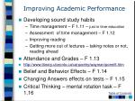 improving academic performance