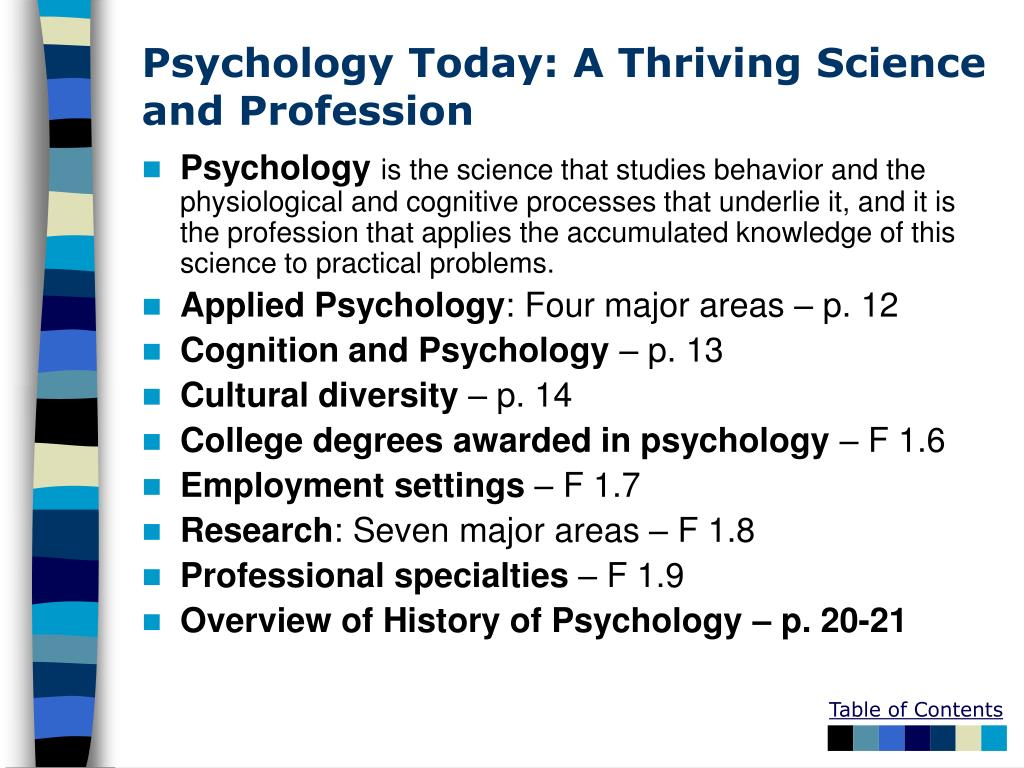 Psychology Today: A Thriving Science and Profession