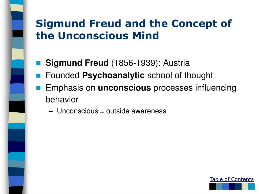 Sigmund Freud and the Concept of the Unconscious Mind