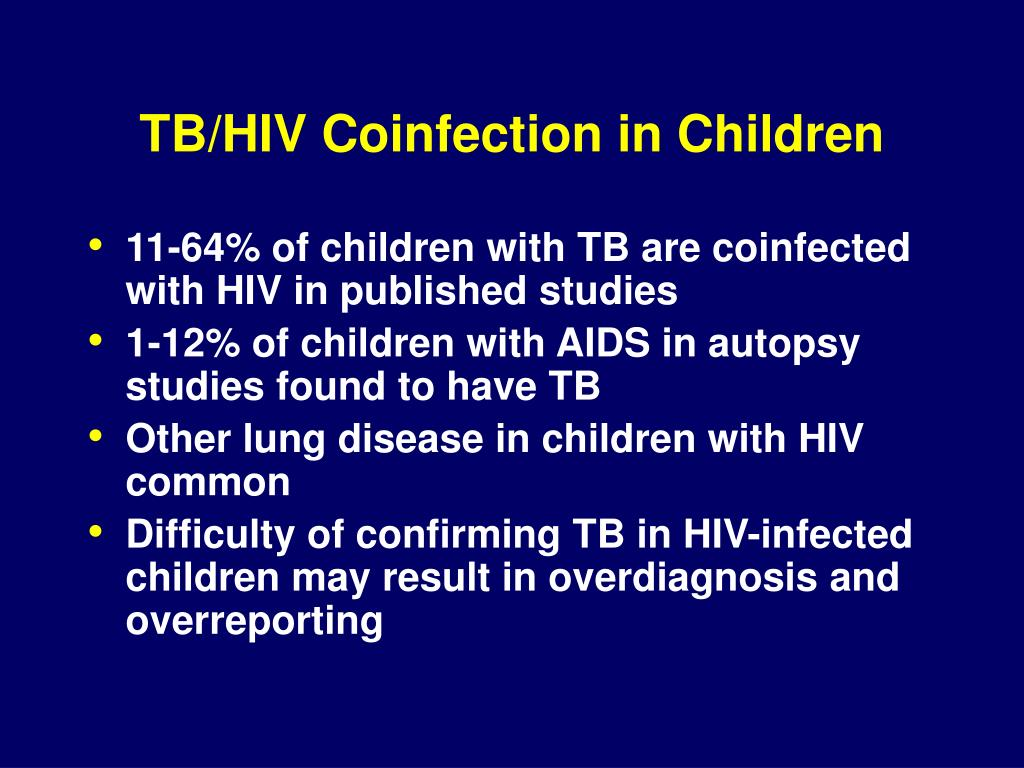 TB/HIV Coinfection in Children