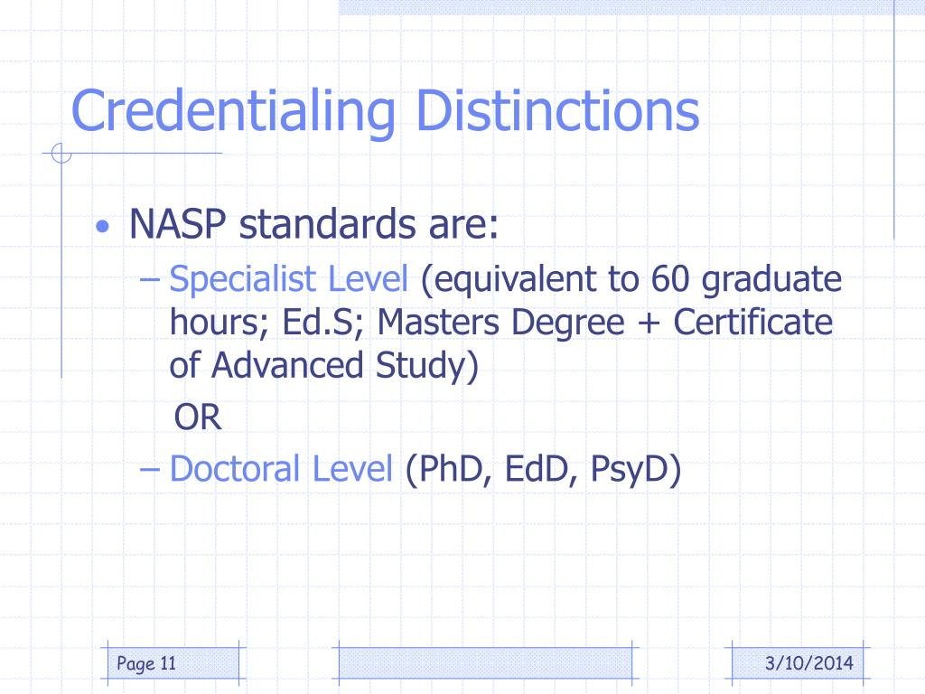 Credentialing Distinctions