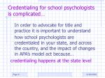 credentialing for school psychologists is complicated