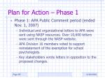plan for action phase 1