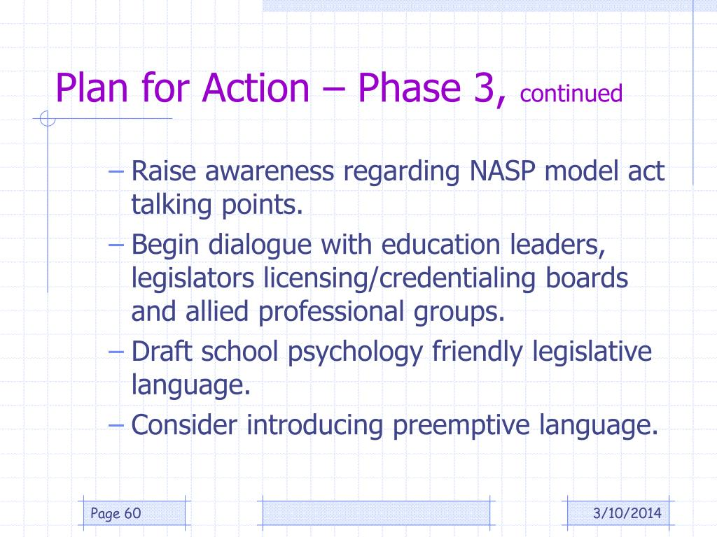 Plan for Action – Phase 3,