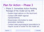 plan for action phase 3