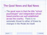 the good news and bad news