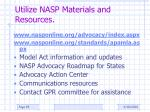 utilize nasp materials and resources