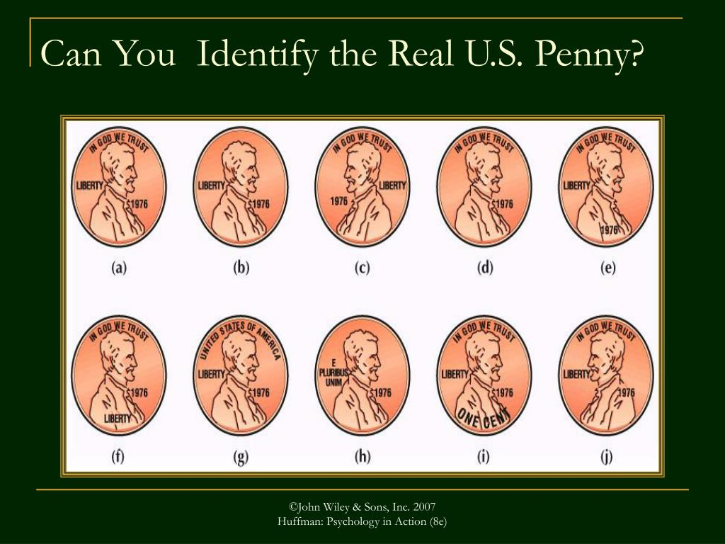 Can You  Identify the Real U.S. Penny?