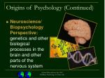 origins of psychology continued18