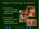 origins of psychology continued19