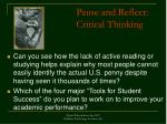 pause and reflect critical thinking53