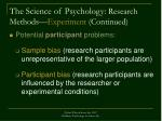the science of psychology research methods experiment continued35