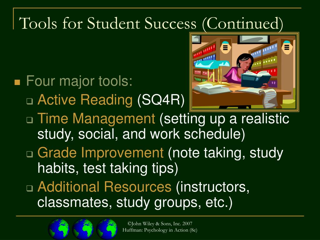 Tools for Student Success (Continued)