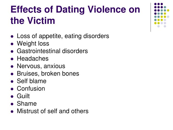 Effects of dating violence