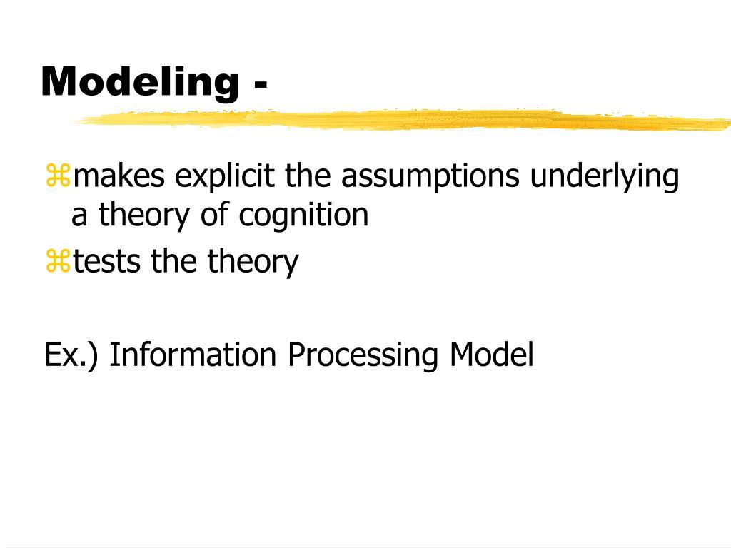 Modeling -