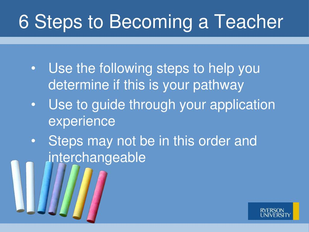 6 Steps to Becoming a Teacher