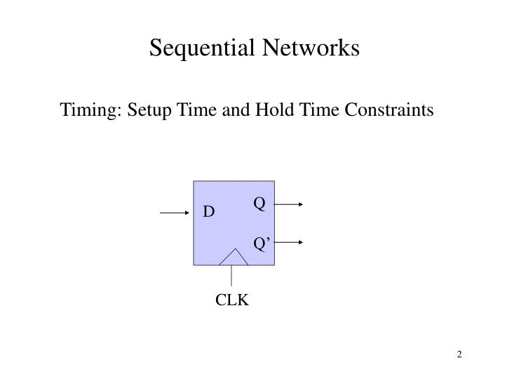 Sequential networks