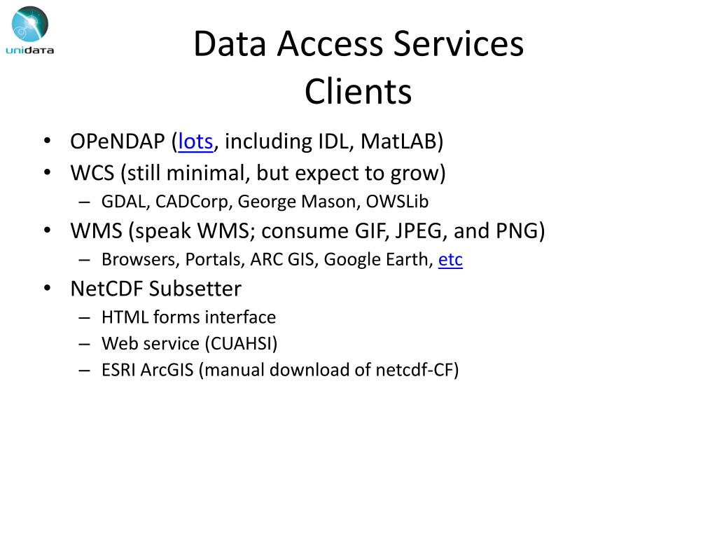 PPT - Unidata's TDS Workshop TDS Overview – Part I
