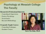 psychology at messiah college the faculty16