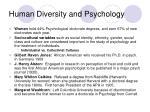 human diversity and psychology