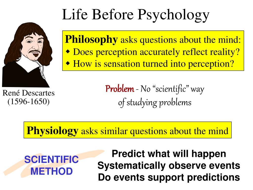 Life Before Psychology
