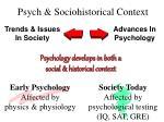 psych sociohistorical context