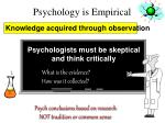 psychology is empirical