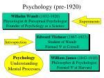 psychology pre 1920